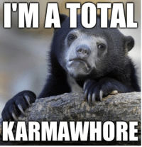 The 5 confession bear memes on the front page of here is my inspiration: IM A TOTAL  KARMAWHORE The 5 confession bear memes on the front page of here is my inspiration