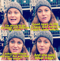 Amy trying to find her mom at the Women's March today. 😂😂 amypoehler parksandrec parksandrecreation tinafey lizlemon leslieknope womensmarchonwashington womensmarch: I'm about to go  Good news is sh  on here Badnews  don't knoW  are asked her where  And she said  you? Are you near  the stage? Amy trying to find her mom at the Women's March today. 😂😂 amypoehler parksandrec parksandrecreation tinafey lizlemon leslieknope womensmarchonwashington womensmarch