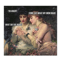 Classical Art, Angry, and Mom: I'M ANGRY  COME EAT WHAT MY MOM MADE  WHAT DID SHE MAKE?  ME Lauren stop (@classicmemelord)