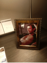 Sexy, Cleveland, and Hotel: Im at the Hyatt hotel in downtown Cleveland. Under special requests, I asked for a sexy picture of Jeff Goldblum for my wife. They did not disappoint.