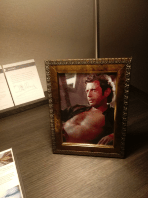 Im at the Hyatt hotel in downtown Cleveland. Under special requests, I asked for a sexy picture of Jeff Goldblum for my wife. They did not disappoint.: Im at the Hyatt hotel in downtown Cleveland. Under special requests, I asked for a sexy picture of Jeff Goldblum for my wife. They did not disappoint.