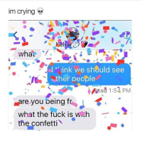 My bro fucking dominated at his wrestling match today like he rekted the kid: im Crying  whau  I ink we should see  ther people  Read 1:57 PM  Lare you peing fr  what the fuck is  wuh  the confetti My bro fucking dominated at his wrestling match today like he rekted the kid