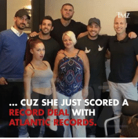 Memes, Record, and 🤖: IM  CUZ SHE JUST SCORED A  RECORD DEAL  WITH  ATLANTIC RECORDS Haters ousside! Danielle Bregoli shuts it down by signing a deal with Atlantic Records 😜 cashmeousside @bhadbhabie daniellebregoli tmz theseheaux