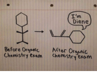 Chemist, Chemistry, and Diene: I'm  Diene  Before or After Oresnic  Chemistry exam Chemistry exom I laughed more than i should 😂😂