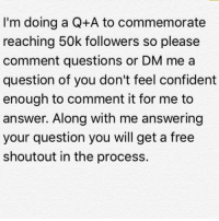 wwe raw wrestlemania nxt wrestlemania32 wwenetwork wrestling awesome banter instagram wwesupercard supercard wweuk wwelive wweuniverse question answer qanda: I'm doing a Q+A to commemorate  reaching 50k followers so please  comment questions or DM me a  question of you don't feel confident  enough to comment it for me to  answer. Along with me answering  your question you will get a free  shoutout in the process. wwe raw wrestlemania nxt wrestlemania32 wwenetwork wrestling awesome banter instagram wwesupercard supercard wweuk wwelive wweuniverse question answer qanda