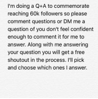 Get asking. Picture Credit: Wrestling Rumors App Information Credit: Wrestling Rumors App wwe raw wrestlemania nxt wrestlemania34 wwenetwork wrestling awesome banter instagram wwesupercard supercard wweuk wwelive wweuniverse 60k qanda question answer: I'm doing a Q+A to commemorate  reaching 60k followers so please  comment questions or DM me a  question of you don't feel confident  enough to comment it for me to  answer. Along with me answering  your question you will get a free  shoutout in the process. I'll pick  and choose which ones la  nswer. Get asking. Picture Credit: Wrestling Rumors App Information Credit: Wrestling Rumors App wwe raw wrestlemania nxt wrestlemania34 wwenetwork wrestling awesome banter instagram wwesupercard supercard wweuk wwelive wweuniverse 60k qanda question answer