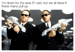 Irl, Me IRL, and Area 51: I'm down for the area 51 raid, but we all dead if  these mans pull up me irl