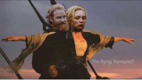 "Game of Thrones, Tumblr, and Best: ""I'm flying Tormund!"" <p><a href=""http://awesomesthesia.tumblr.com/post/172697464148/the-best-game-of-thrones-ending"" class=""tumblr_blog"">awesomesthesia</a>:</p>  <blockquote><p>The best game of thrones ending</p></blockquote>"