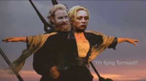 "Game of Thrones, Tumblr, and Best: ""I'm flying Tormund!"" awesomesthesia:  The best game of thrones ending"