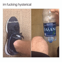 Fucking, Thank You, and Water: im fucking hysterical  Ge  as a foot  PURIFIED WATER  DASAN Thank you all for dming about the artist thing. I spent many hours looking through dms & communicating with people. -M