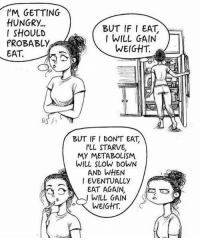 Who is this 😂😂 @livingfittips: I'M GETTING  HUNGRY,  SHOULD  PROBABLY  BUT IF I EAT  I WILL GAIN  WEIGHT  BUT IF I DON'T EAT  I'LL STARVE,  MY METABOLISM  WILL SLOW DOWN  AND WHEN  EVENTUALLY  aEAT AGAIN,  I WILL GAIN  WEIGHT. Who is this 😂😂 @livingfittips