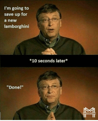 """Memes, Lamborghini, and 🤖: I'm going to  save up for  a new  lamborghini  *10 seconds later  """"Done!"""" Love this from @minoritymindset - where are you setting your goals? Forget what the majority tells you. Follow my friends 👉 @minoritymindset and subscribe to their YouTube channel. I promise you will love it @minoritymindset 🔑🔑🔥"""