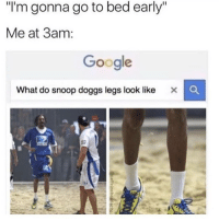 "Google, Memes, and Snoop: ""I'm gonna go to bed early""  Me at 3am:  Google  What do snoop doggs legs look like X C 🚫 WARNING 🚫 😂 @TOPTREE is literally the funniest page, hurry and follow 👌👌"
