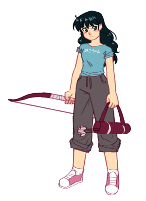 "megaepiphany: AU where everything is the same only Kagome wears casual clothes in the past instead of potentially ruining her school uniform  Her shirt says ""mikochan"" btw  : im\i  V otこちゃん megaepiphany: AU where everything is the same only Kagome wears casual clothes in the past instead of potentially ruining her school uniform  Her shirt says ""mikochan"" btw"