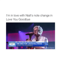Cute, Funny, and Love: I'm in love with Niall's note change in  Love You Goodbye  4 40 ONE DIRECTION LIVE IN HOLLYWooD com  LOVE GOODBYE  actions follow my backup @harryreactions for more funny-cute-good-relatable 1d posts 😊💞 @harryreactions get it to 60k pleAse$😩😩 @harryreactions