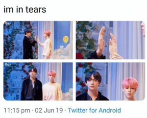 #BTS 🐾 the difference in sizeeee: im in tears  11:15 pm 02 Jun 19 Twitter for Android #BTS 🐾 the difference in sizeeee