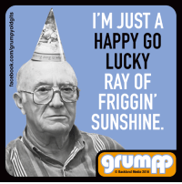 Memes, 🤖, and Media: I'M JUST A  HAPPY GO  LUCKY  RAY OF  A FRIGGIN'  SUNSHINE  UM  Backland Media 2016 I'm the life of the party...