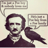 I can't stop laughing 😂😂 https://t.co/gmcYmcp88p: I'm just a Poe boy  m just a oe boy  & nobody loves me  He's just a  Poe boy from  e s  a Poe family I can't stop laughing 😂😂 https://t.co/gmcYmcp88p