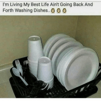 Funny, Life, and Best: I'm Living My Best Life Ain't Going Back And  Forth Washing Dishes..£ £ Y'all too funny for this one! 😩😂 https://t.co/8VsXV6fyRI