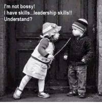 Memes, Leadership, and 🤖: I'm not bossy!  I have skills...leadership skills!!  Understand? Yeah, leadership skills *wink wink