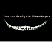 Crazy, Reality, and Im Not Crazy: I'm not crazy! My reality is just different than yours