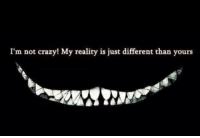 im not crazy: I'm not crazy! My reality is just different than yours