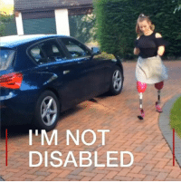 """I don't see myself as disabled."" 14-year-old quadruple amputee Isabelle is truly inspirational. Last year she became a national trampolining champion. She has also started a YouTube channel aimed at inspiring other amputees. ❤️ inspire amazing amputee trampoline: I'M NOT  DISABLED ""I don't see myself as disabled."" 14-year-old quadruple amputee Isabelle is truly inspirational. Last year she became a national trampolining champion. She has also started a YouTube channel aimed at inspiring other amputees. ❤️ inspire amazing amputee trampoline"