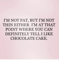 Definitely, Memes, and Cake: I'M NOT FAT, BUT I'M NOT  THIN EITHER. I'M AT THAT  POINT WHERE YOU CAN  DEFINITELY TELL I LIKE  CHOCOLATE CAKE Chunky but funky 😁 Follow my doll @northwitch69 @northwitch69 @northwitch69 @northwitch69