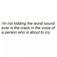 http://iglovequotes.net/: i'm not kidding the worst sound  ever is the crack in the voice of  a person who is about to cry http://iglovequotes.net/