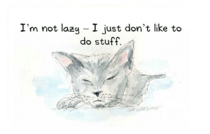 Lazy, Stuff, and Ambition: I'm not lazy I just don't like to  do stuff. Ambition Challenged [OC]