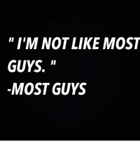 Run from any guy who says this RP @tinderonians: I'M NOT LIKE MOST  GUYS.  II  MOST GUYS Run from any guy who says this RP @tinderonians