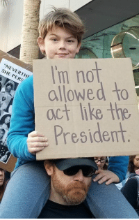 """Memes, Http, and 🤖: I'm not  oct like the  President  """"NEVERTH  SHE PERS  Presidern The 45 Funniest Signs from the Women's March: http://bit.ly/2mZHV7t"""