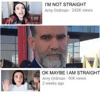 Amy, Iam, and Straight: I'M NOT STRAIGHT  Amy Ordman 242K views  1:05  OK MAYBE IAM STRAIGHT  Amy Ordman 90K views  2 weeks ago Number 1