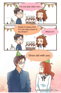 "Anime, Tumblr, and Blog: I'm one year older now...  Great! It means that  I'm one step closer to  my dream!  Which is?  7  Grow old with you.  by @howardinterprets xFlavor <p><a href=""https://anime--irl.tumblr.com/post/176404251063/animeirl"" class=""tumblr_blog"">anime–irl</a>:</p><blockquote><p>anime_irl</p></blockquote>"