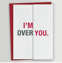 9gag, Funny, and Memes: I'M  OVER YOU. What if they never bother to flip it open? - Check out @takemymoney for more funny products. - card christmascard festive takemymoney 9gag