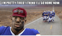 Memes, Nfl, and Home: IM PRETTYTIRED ITHINK LGO HOME NOW  @NFL MEMES  s.  35 😭😭😭 https://t.co/jifbbuDa7d