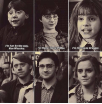"""I'm Ron by the way, Ron Weasley""  ""I'm Harry, Harry Potter""  ""I'm Hermione Granger"" https://t.co/sQhQ4Pr7AO: I'm Ron by the way,  Ron Weasley  I'm Harry. Harry Potter.  m Hermione Granger. ""I'm Ron by the way, Ron Weasley""  ""I'm Harry, Harry Potter""  ""I'm Hermione Granger"" https://t.co/sQhQ4Pr7AO"