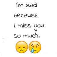 Im Sad: i'm sad  because  i miss you  so much.