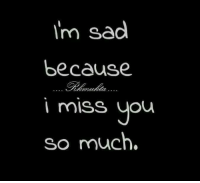 Im Sad: I'm sad  because  miss you  so much.