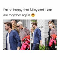 School, Happy, and Sunday: I'm so happy that Miley and Liam  are together again 9 papers due Sunday next week and I'm done with my entire school year