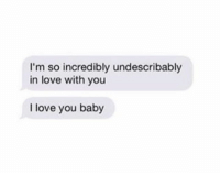 baby i m in love with you