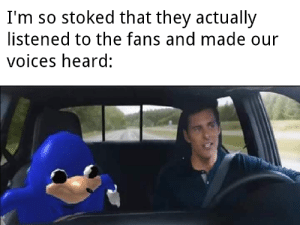 They did it for the fans via /r/memes https://ift.tt/2O8JxIV: I'm so stoked that they actually  listened to the fans and made our  voices heard: They did it for the fans via /r/memes https://ift.tt/2O8JxIV