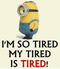 50 Funny Minions Quotes and Sayings 21: IM SO TIRED  MY TIRED  IS TIRED! 50 Funny Minions Quotes and Sayings 21