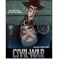 I'M SORRY BUZZ...  BUT HE'S MY FRIEND.  BLERD VISION  YOU HAD A FRIEND IN ME. Accurate 👌🏽👌🏽 toystory robertdowneyjr jessicajones spiderman wintersoldier captainamericacivilwar daredevil chrisevans tomholland funny memes mondaymotivation meme lol blackpanther marvel marvelcomics marvelnation marveluniverse cosplay cosplayer cosplayers blerd menofcosplay avengers captainamerica hulk ironman thor