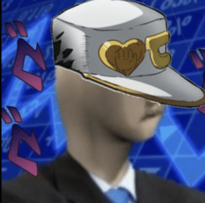 """""""im sorry if this sounds rude, but this guy sort of looks like you, jotaro"""": """"im sorry if this sounds rude, but this guy sort of looks like you, jotaro"""""""