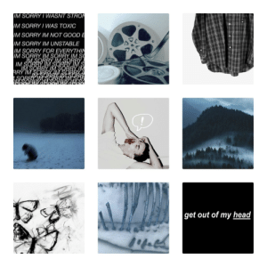 Head, Molly, and Sorry: IM SORRY/ WASNT STRO  IM SORRY WAS TOXIC  IM SORRY IM NOT GOOD E  M SORRY IM UNSTABLE  IM SORRY FOR EVERYTHIN  IM SORRY IM SORRY IM S  IM S  RRY IM  get out of my head fick1nsthetics:  Moodboard for Josh Washington from Until Dawn! - Molly (Mod Zen's fictive)