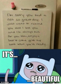 Imagine the other way round... http://9gag.com/gag/aYKN2L2?ref=fbpic: I'm sorry you had a  not so greet de  you that love you.  and  entwenys  cor your. Nour. enyo4 a  beer come ereb n-y  boob when  ready  ITS  BEAUTIFUL  VIA 9GAG.COM Imagine the other way round... http://9gag.com/gag/aYKN2L2?ref=fbpic