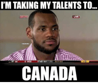 Nba, Ups, and Canada: I'M TAKING MY TALENTS TO  LIVE  @NBAMEMES  NE SD  6 WSH  35 OUT  CANADA The decision LeBron woke up to.