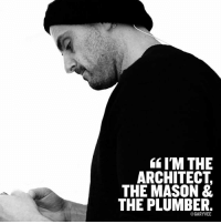 """Memes, True, and Good: IM THE  ARCHITECT  THE MASON &  THE PLUMBER.  GARYVEE When you have pride in the thinking behind what you do and the ability to actually do it and even more importantly stay grounded when good things happen so you can still be great at the craft that """"got you there"""" well then you have the tried and true blueprint for long term success."""