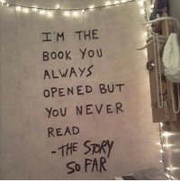 Yo, Book, and Never: I'M THE  Book Yo U  ALWAYS  OPENED BUT  YoU NEVER  READ  THE SPRY  So FAR
